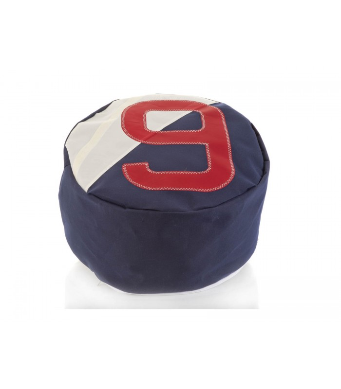 Pouffe made from recycled Sailcloth - 9