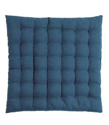 cotton seat cushion is dark navy blue