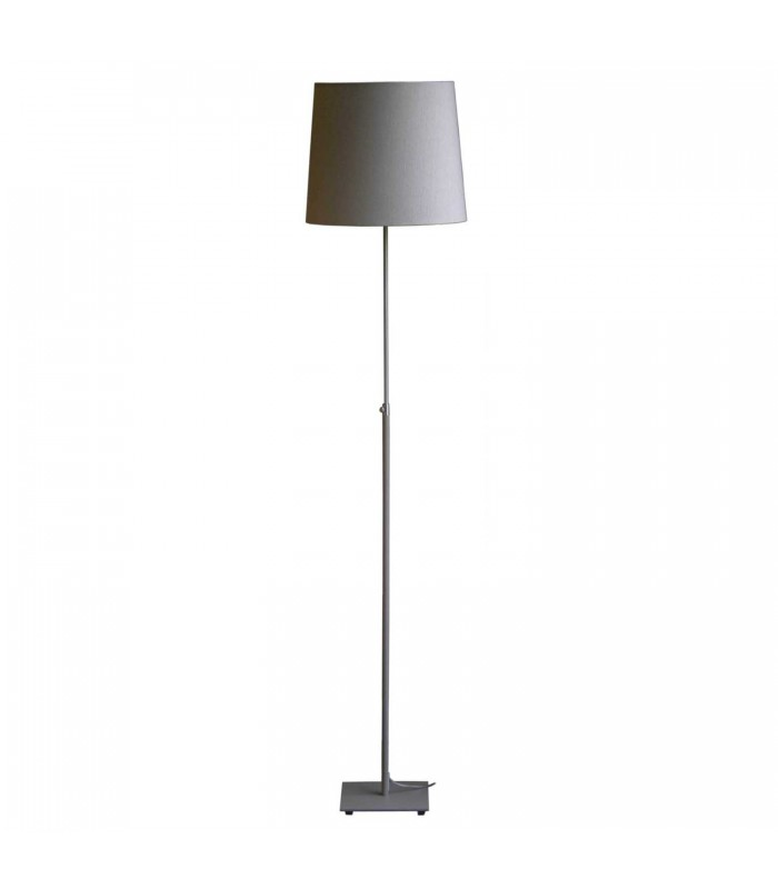 stone colour floor lamp with matching shade