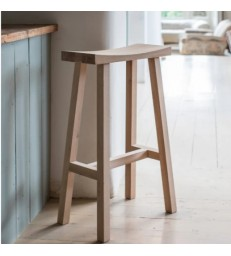 Contemporary Bar Stool Natural Oak Seat & Legs