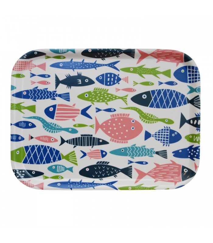 little fishes small rectangular tray made from birch