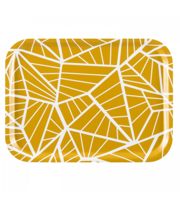 Small Rectangular Tray - Yellow Geometric Pattern