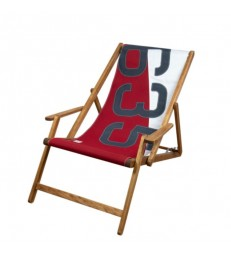 Deckchair from recycled sailcloth Red White