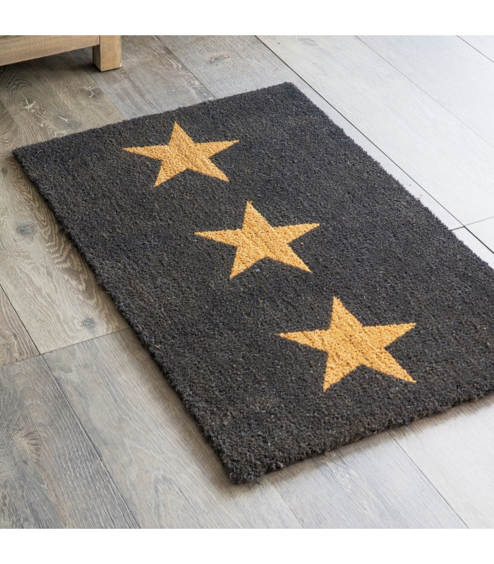 Three Stars Coir Doormat