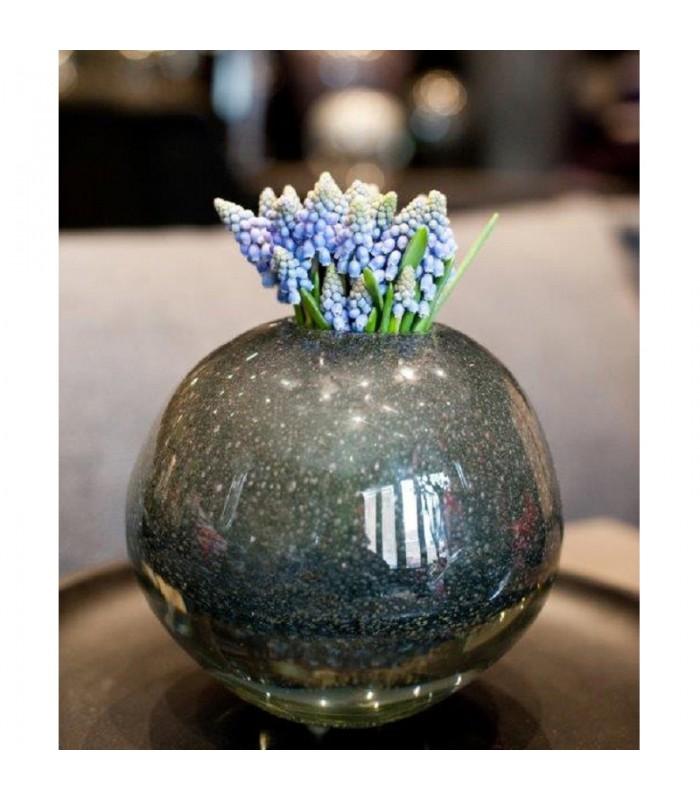 Grey Bubble Glass Vase