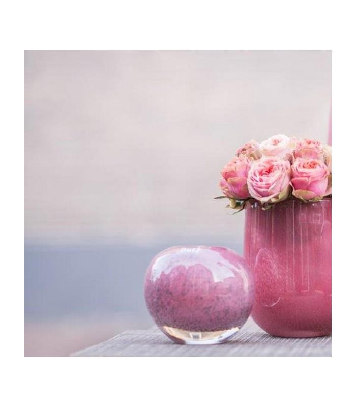 Pink Bubble Glass Vase
