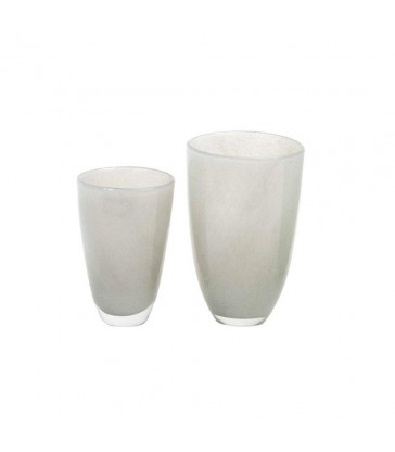 Pale Grey Glass Flower Vases - 2 sizes
