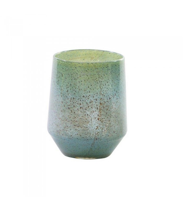 Tropical Blue Glass Flower Vase