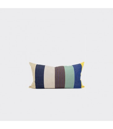 Mateo 50x90cm Stripe Cushion - Navy, Blue & Green