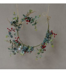 Faux Red Berry & Eucalyptus Garland 120cm