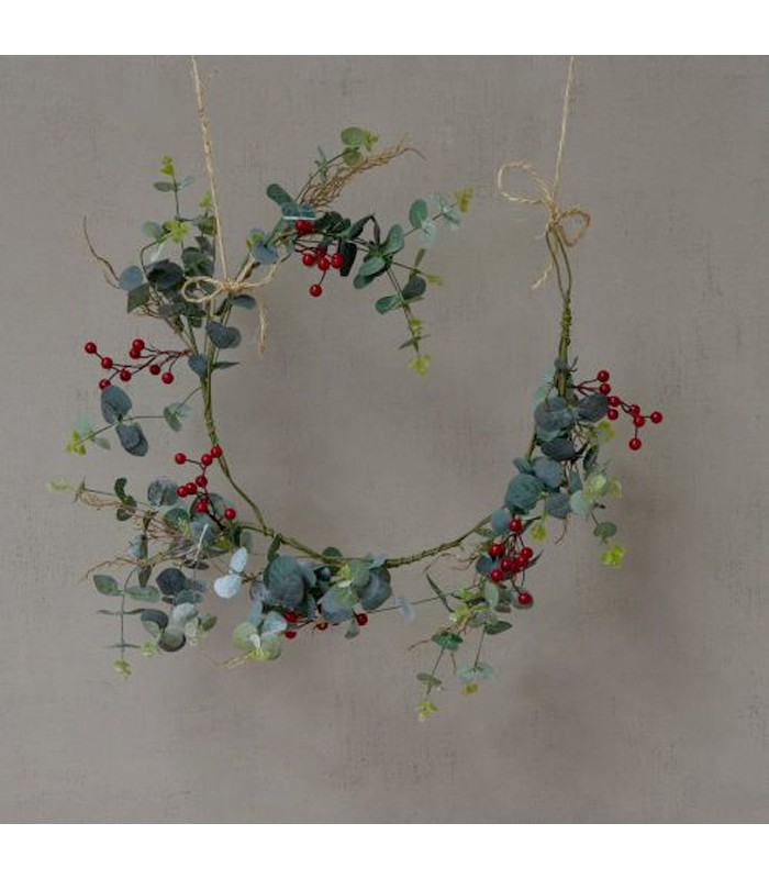 Faux Red Berry & Eucalyptus Garland 120cm for christmas