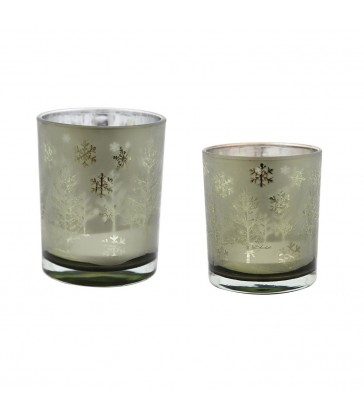 small and large candle votives