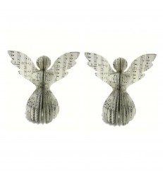 2 Music Sheet Christmas Paper Angels
