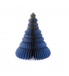 Blue Honeycomb Christmas Tree 25cm - Glitter Edges