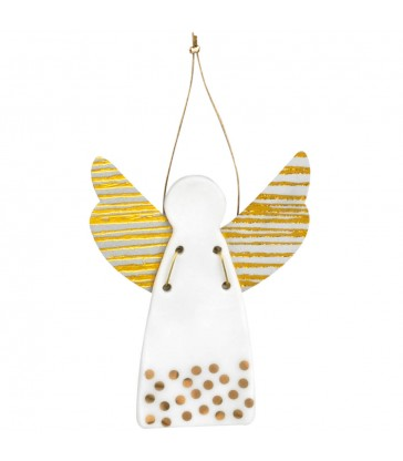 Large Christmas Tree Angel - gold dots