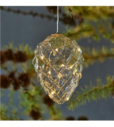 Glass Cone Light Decoration 13cm