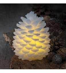 Small White Pine Cone LED light  - 14cm