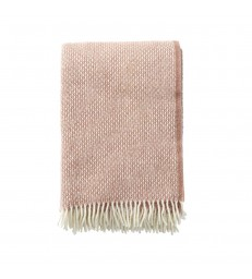 FRECKLES Pink Wool Throw