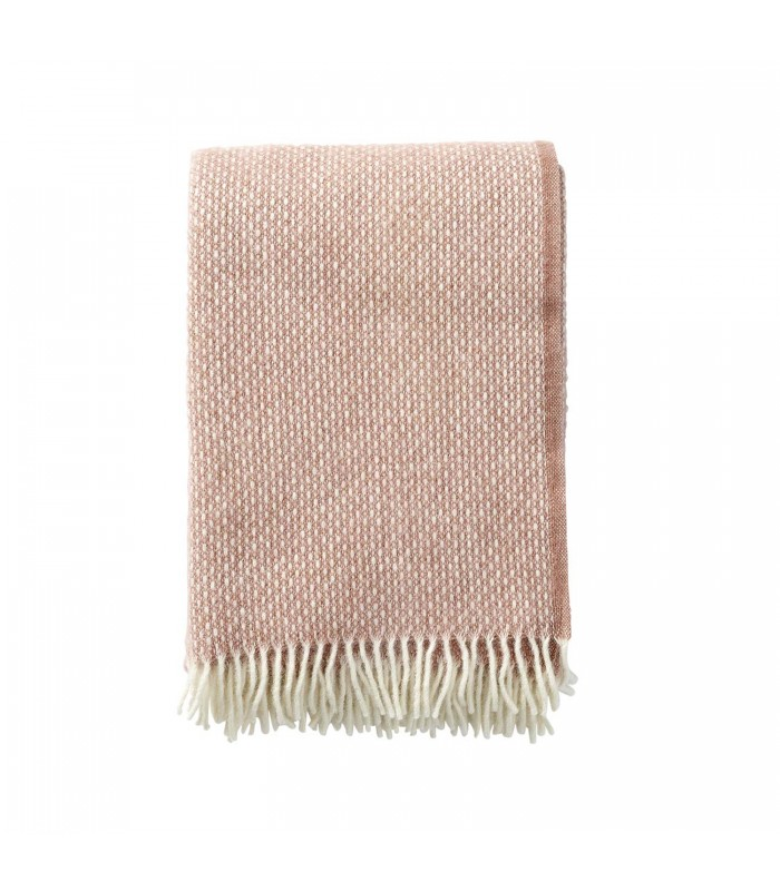 freckles swedish wool throw in nude pink