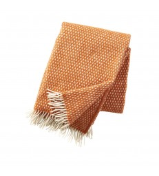 KNUT Orange Wool Throw