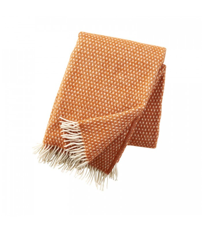 KNUT Orange Wool Throw