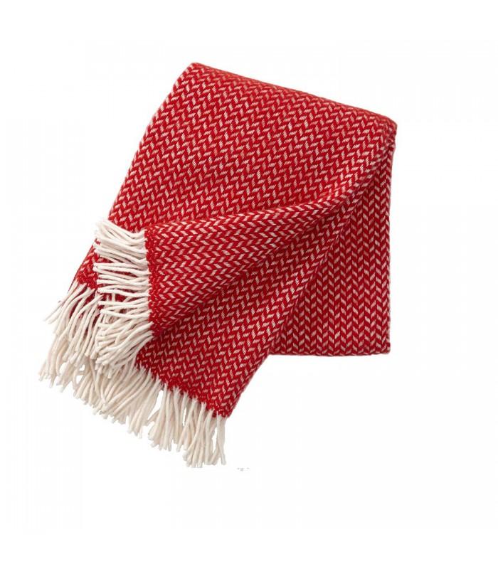 POLKA Red & White Wool Throw