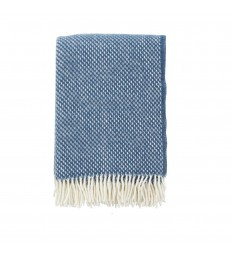 PREPPY Blue Wool Throw