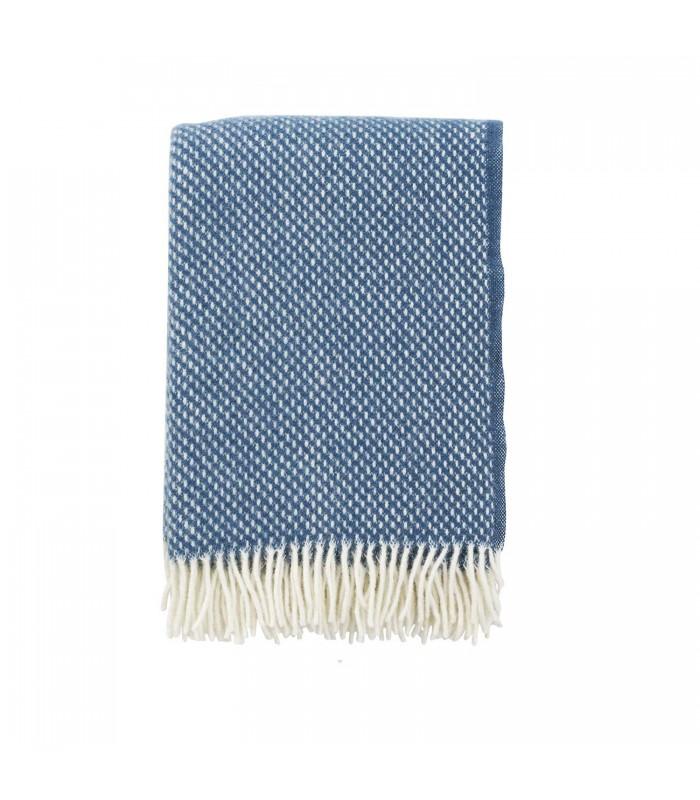 PREPPY Blue Wool Throw
