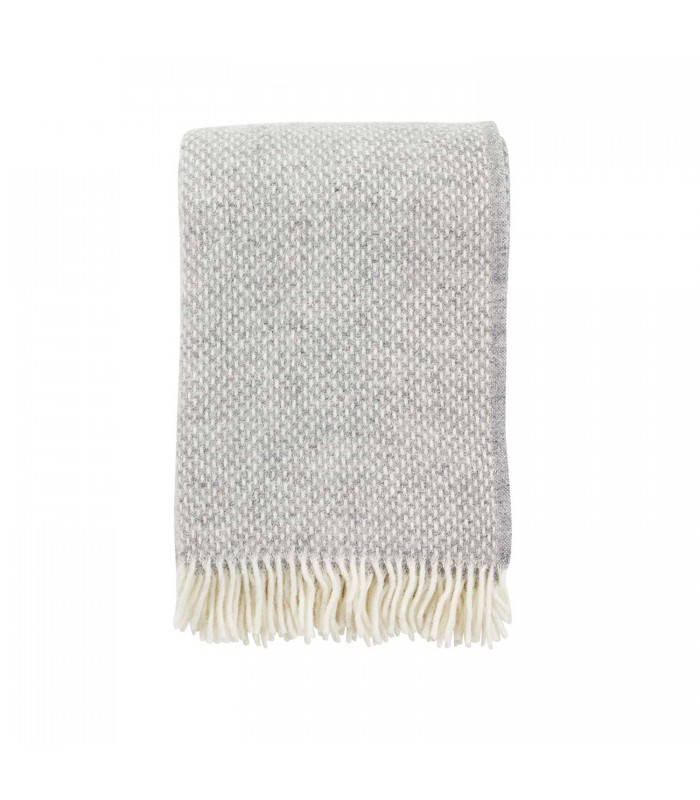 PREPPY Grey Melange Wool Throw