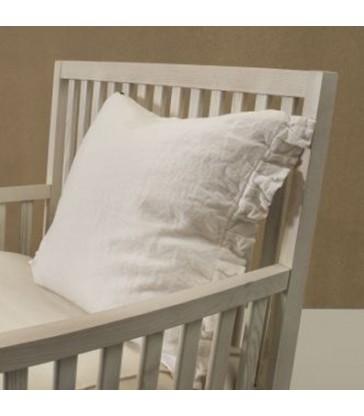 White 100% Linen Cushion 50x60cm