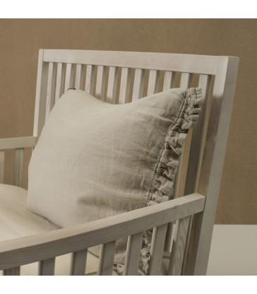 Pale Grey 100% Linen Cushion 50x60cm