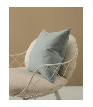 Pale Green Pure Linen Cushion