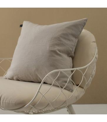 Pale Grey Pure Linen Cushion 50x50cm