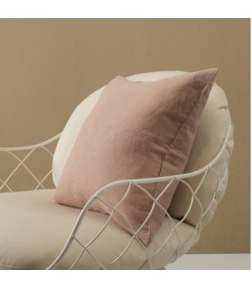 Pale Pink Pure Linen Cushion 50x50cm