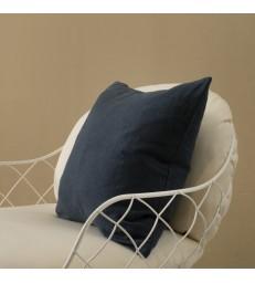 Dark Blue Pure Linen Cushion 50x50cm