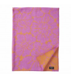 OLIVIA Orange/Cerise Merino & Wool Throw