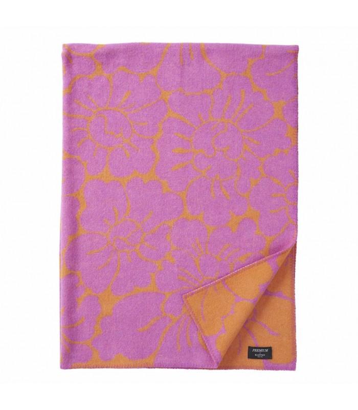 OLIVIA Orange/Cerise Merino & Wool Throw