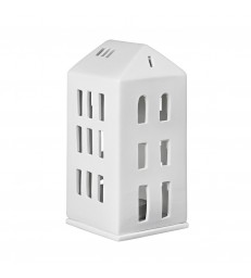 White Tea Light House with Hipped Roof