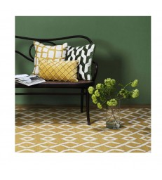 Tikka Spicy Yellow & White Floor Rug