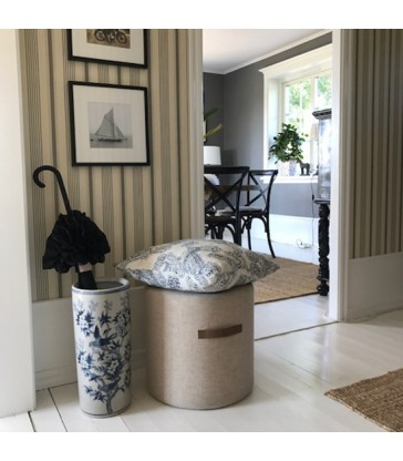 Cream Round Wool Pouffe - 2 sizes