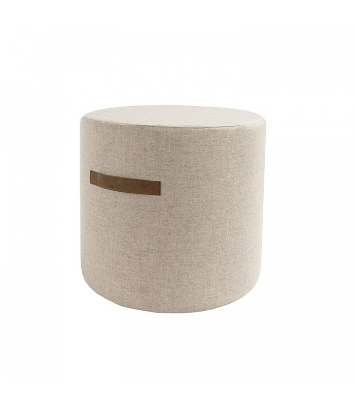 Cream Round Wool Pouffe - 2 sizes