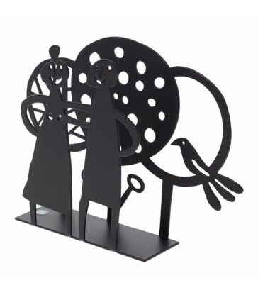 Couples and Trees Black Napkin Holder