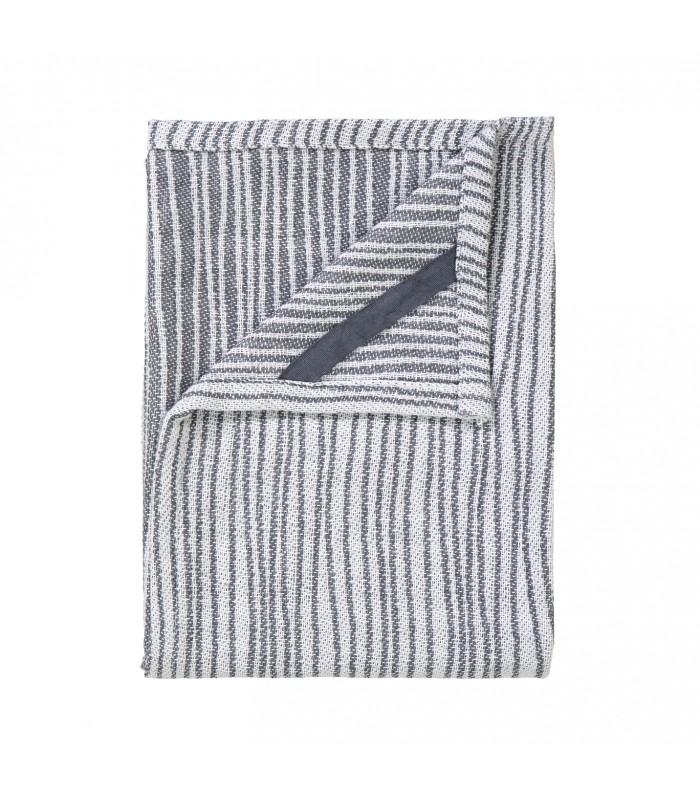 Tea Towel White/Gunmetal
