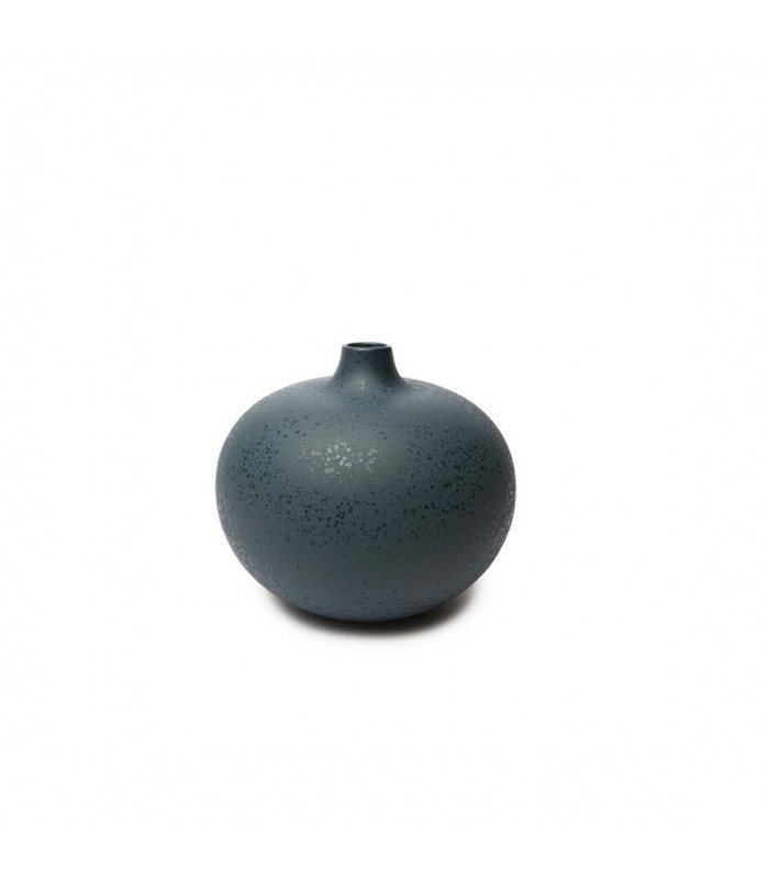 Round Blue Mirage Ceramic Vase