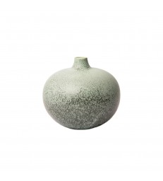 Round Speckled Green Ceramic Vase