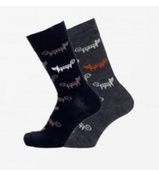 Merino Socks - Cat