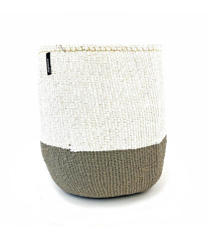 Basket Warm Grey/White - 2 Sizes