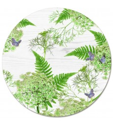 Placemat Round White Dill