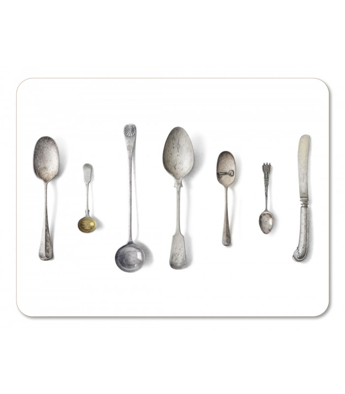 Placemat Cutlery White