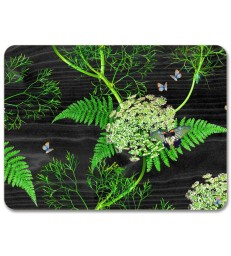 Placemat Black Dill
